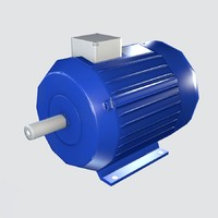 3d obj electric motor