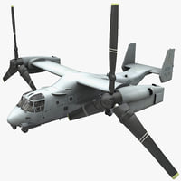Military Tiltrotor Aircraft MV-22 Osprey 2 Rigged