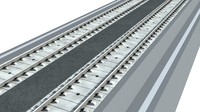 3d model gauge railway tracks nonbalasted