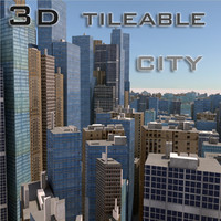 3ds max tileable building city