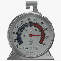 3d model refrigerator freezer thermometer