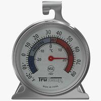 3d model refrigerator freezer thermometer