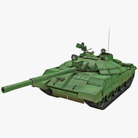 3d model t-62m soviet main battle tank