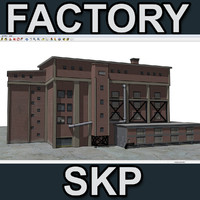 sketchup factory 3d model
