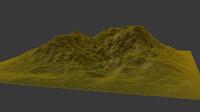 terrain rendering 3d model