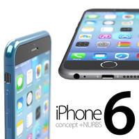 3d iphone 6 concept model