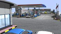 c4d petrol station