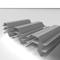 3d steel piles metal