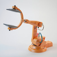 industrial robot arm obj