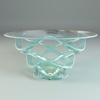 glass dining table reflex 3d model