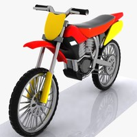 cartoon motocross car 3d max