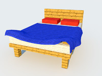 c4d minecraft bed