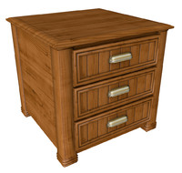 3d traditional nightstand model