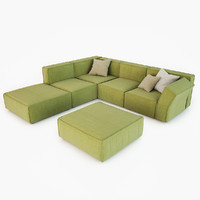 3d calia sofa modern living model