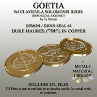 3d model of seals goetia
