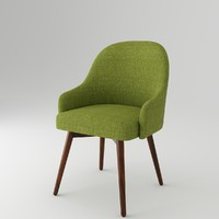 armchair chair fabric 3ds