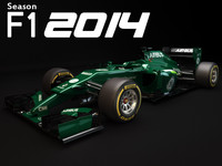3d model f1 caterham ct05 2014