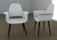3d chair armchair type model