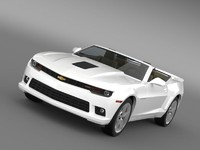 3d model chevrolet camaro ss convertible