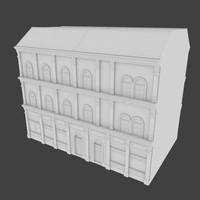 building facades 3d model