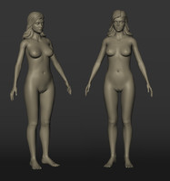 3d model female nude
