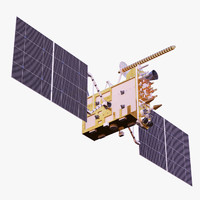 3d satellite glonass-k model