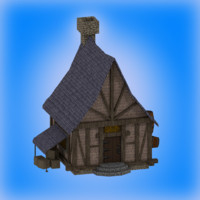 3d medieval fantasy home house model