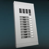 3d model intercom