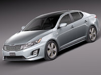 kia optima hybrid 3d model
