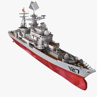 3d model chinese destroyer ship