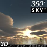 Sky 3D Sunset 019
