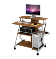 computer desk with castors