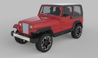 generic offroad vehicle 3d model