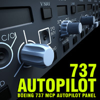 737 Autopilot MCP Panel Cockpit Part