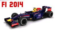 2014 redbull rb10 formula 1 3d model