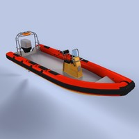 rigid inflatable boat 3d lwo