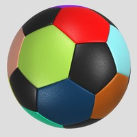 soccer ball colorful 3d model