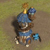 wizards tower 3d max