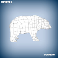 base mesh grizzly bear 3d model