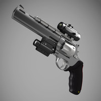3d model raging bull 454 casull
