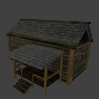 house hut 3d 3ds