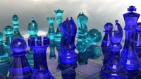 chess glass 3d blend