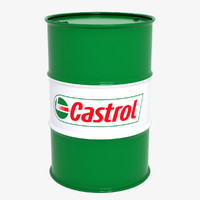 3d obj barrel castrol