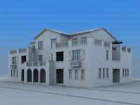 free house villa 3d model