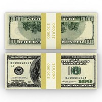 free max model pile banknotes