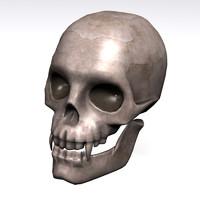 3d 3ds vampire skull