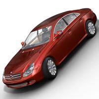 mercedes cls 500 3d model