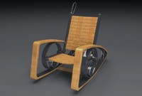 rocking chair 3d 3ds