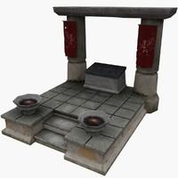 3d ancient altar model