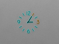 Wall Clock Neon Light